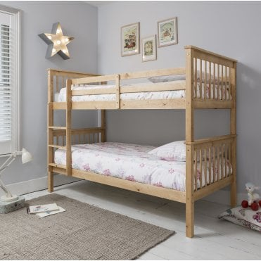 Noa and Nani Anders Bunk Bed with 2 Single Beds in Natural