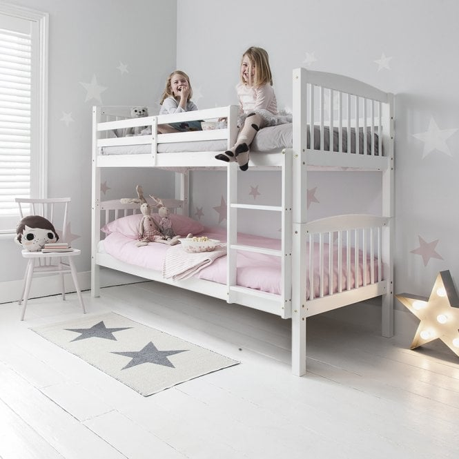 Noa and Nani Anders Bunk Bed with 2 Single Beds in White