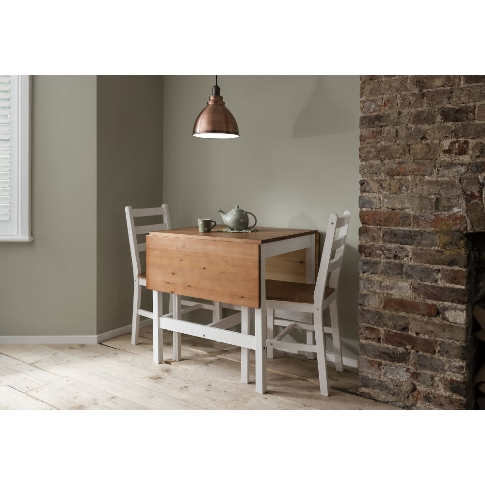 Annika Drop leaf Dining Table with 2 Chairs Noa Nani