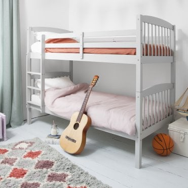 Noa and Nani Brighton Silk Grey Bunk Bed with 2 Single Beds