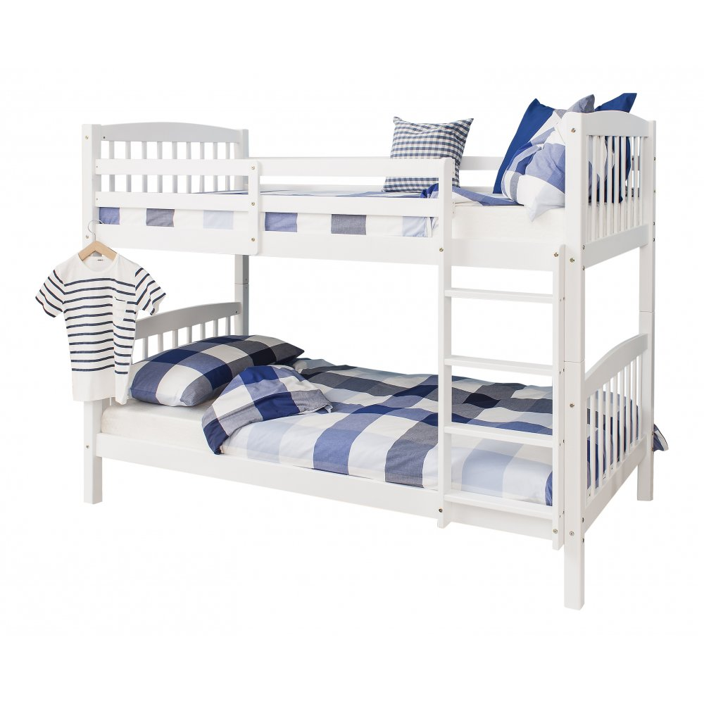 Brighton single bunk bed in white noa nani for Single bunk bed