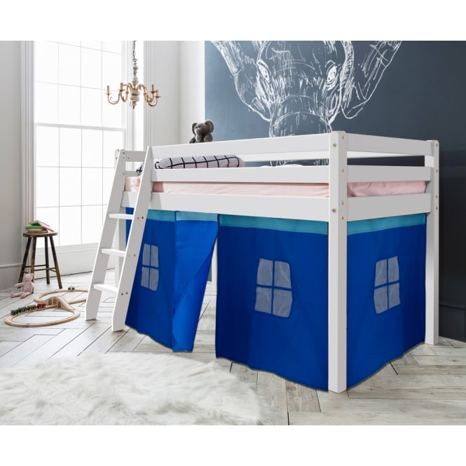 Noa and Nani Cabin Bed Thor Midsleeper with Blue Tent