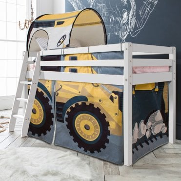 Noa and Nani Cabin Bed Thor Midsleeper with Diggers Tent
