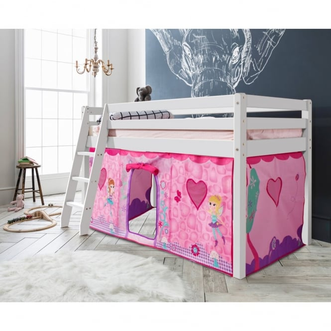 Noa and Nani Cabin Bed Thor Midsleeper with Fairies Tent