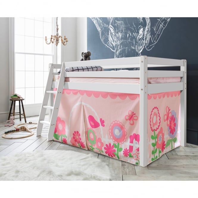 Noa and Nani Cabin Bed Thor Midsleeper with Floral Tent