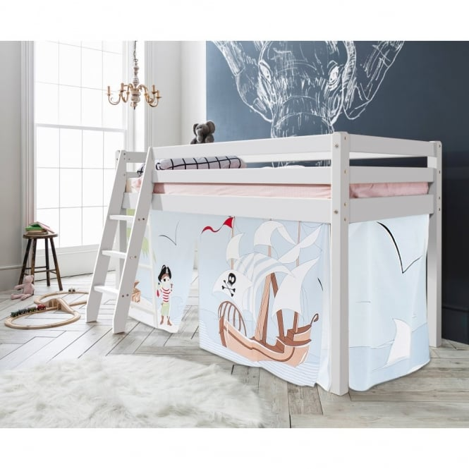 Noa and Nani Cabin Bed Thor Midsleeper with Pirate Pete Tent