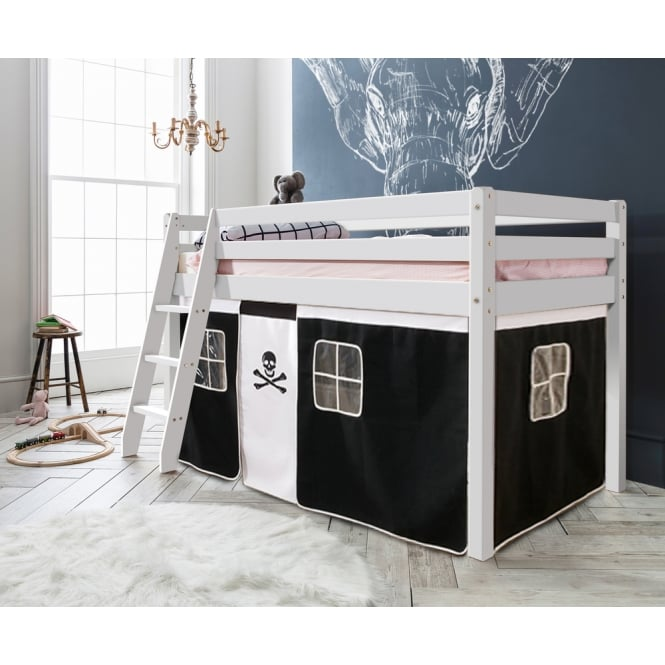 Noa and Nani Cabin Bed Thor Midsleeper with Pirate Tent