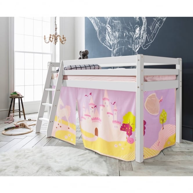 Noa and Nani Cabin Bed Thor Midsleeper with Princess Fairytale Tent