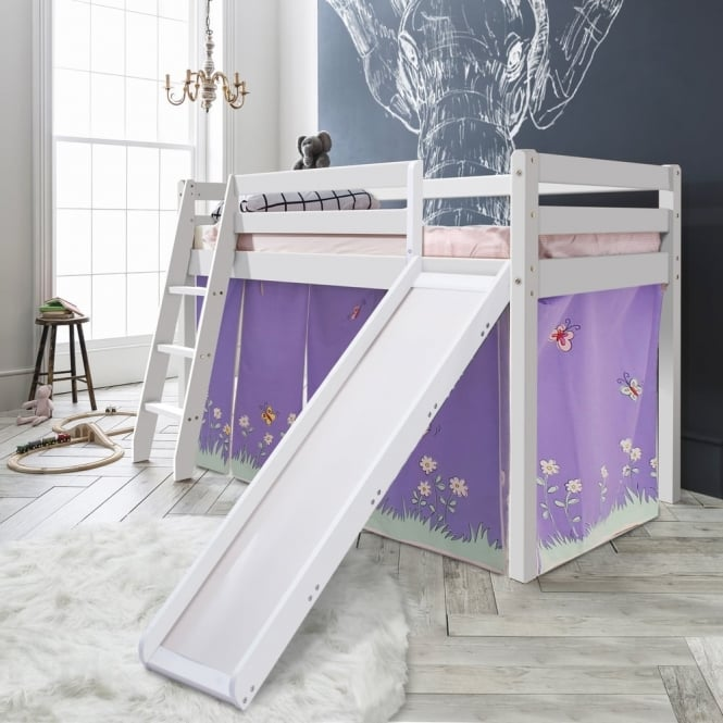 Noa and Nani Cabin Bed Thor Midsleeper with Slide & Annabel Tent, Tower & Tunnel