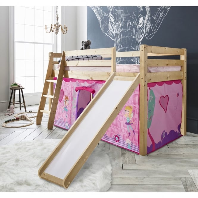 Noa and Nani Cabin Bed Thor Midsleeper with Slide & Fairies Tent