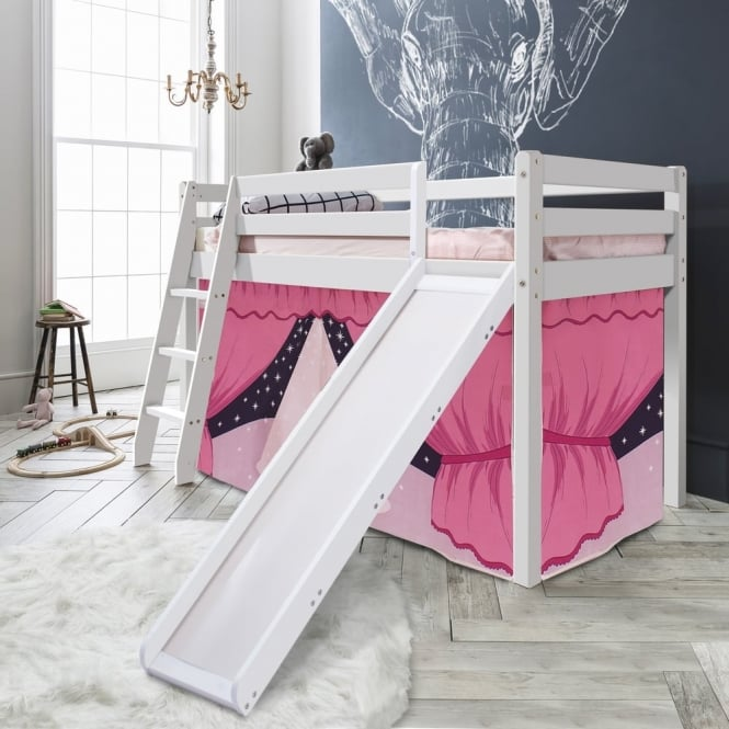 Noa and Nani Cabin Bed Thor Midsleeper with Slide & Showtime Tent Tower & Tunnel