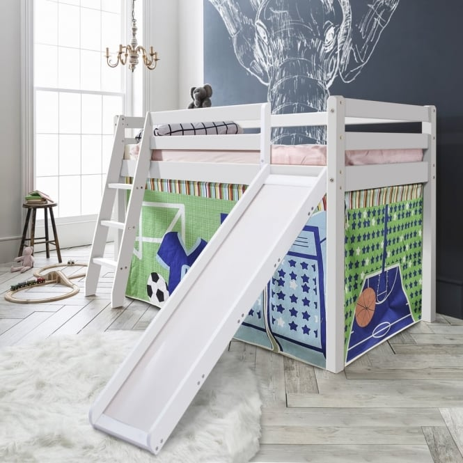 Noa and Nani Cabin Bed Thor Midsleeper with Slide & Sports Tent Tower & Tunnel