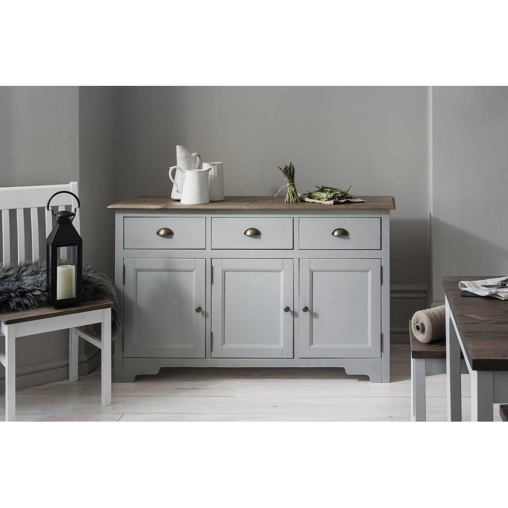 Canterbury 3 Drawer Sideboard Cabinet in Silk Grey | Noa & Nani