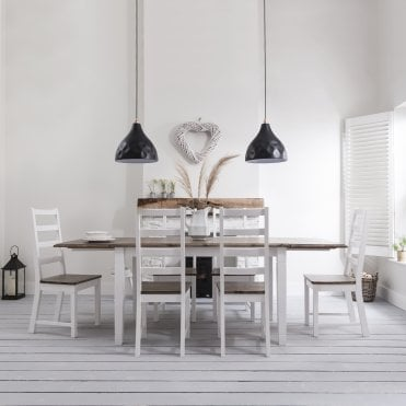 Noa and Nani Canterbury Dining Table with 6 Chairs & 2 x Extensions