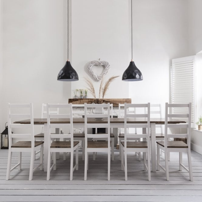 Noa and Nani Canterbury Dining Table with 8 Chairs & 2 x Extensions