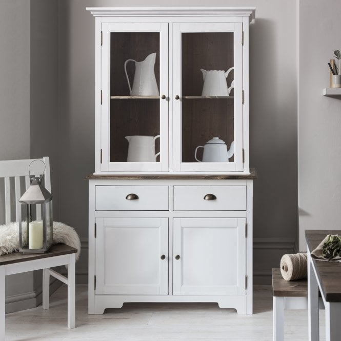 White Pine Cabinets: Canterbury Dresser Cabinet With 2 Drawer Glass Doors In