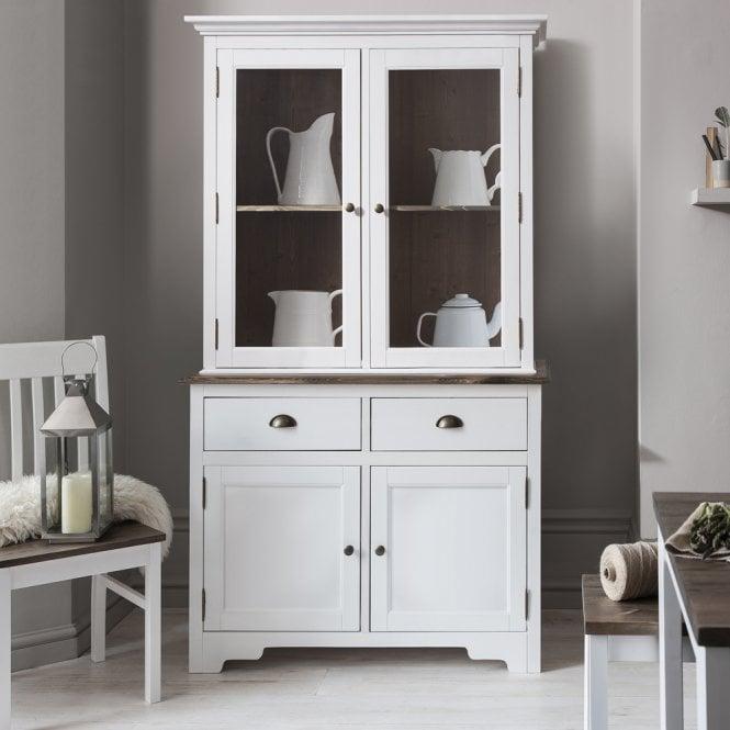 Canterbury Dresser Cabinet With Glass Door In White Noa