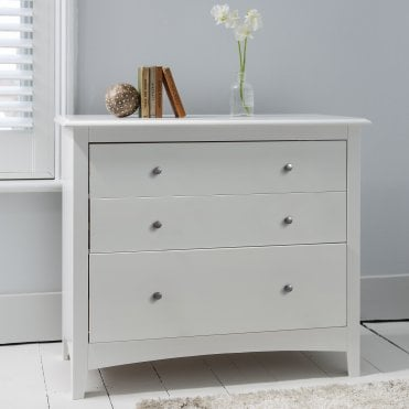 Chest of Drawers 3 Drawer in White