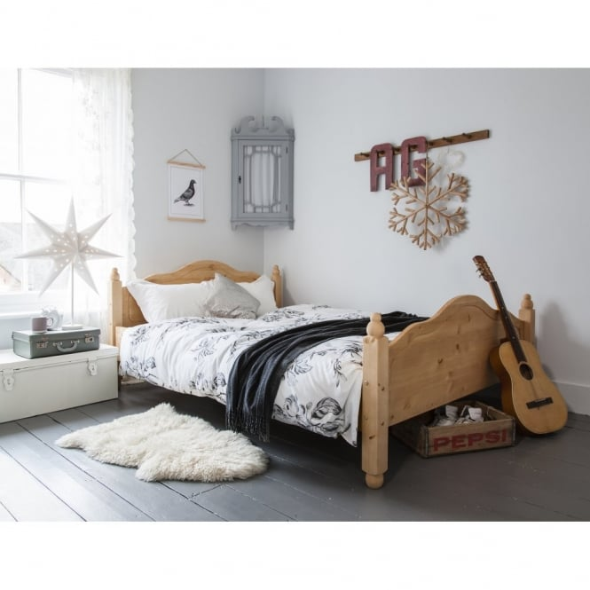 Noa and Nani Double Bed Olivia in Natural Pine Solid Wood Frame