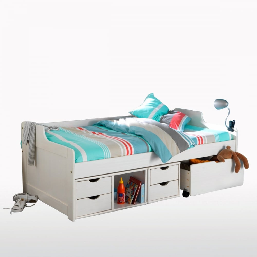 Eva Single Bed With Drawers Trundle Noa Nani