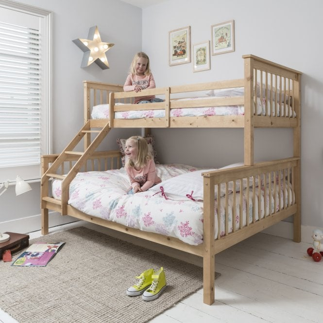 Noa and Nani Hanna Triple Bed Bunk Bed in Natural