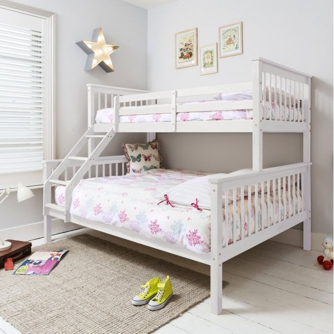 Noa and Nani Hanna Triple Bed Bunk Bed in White
