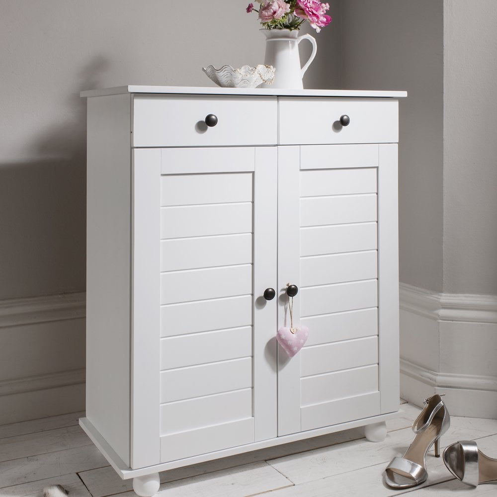 Heathfield Shoe Storage Unit In White Noa Amp Nani