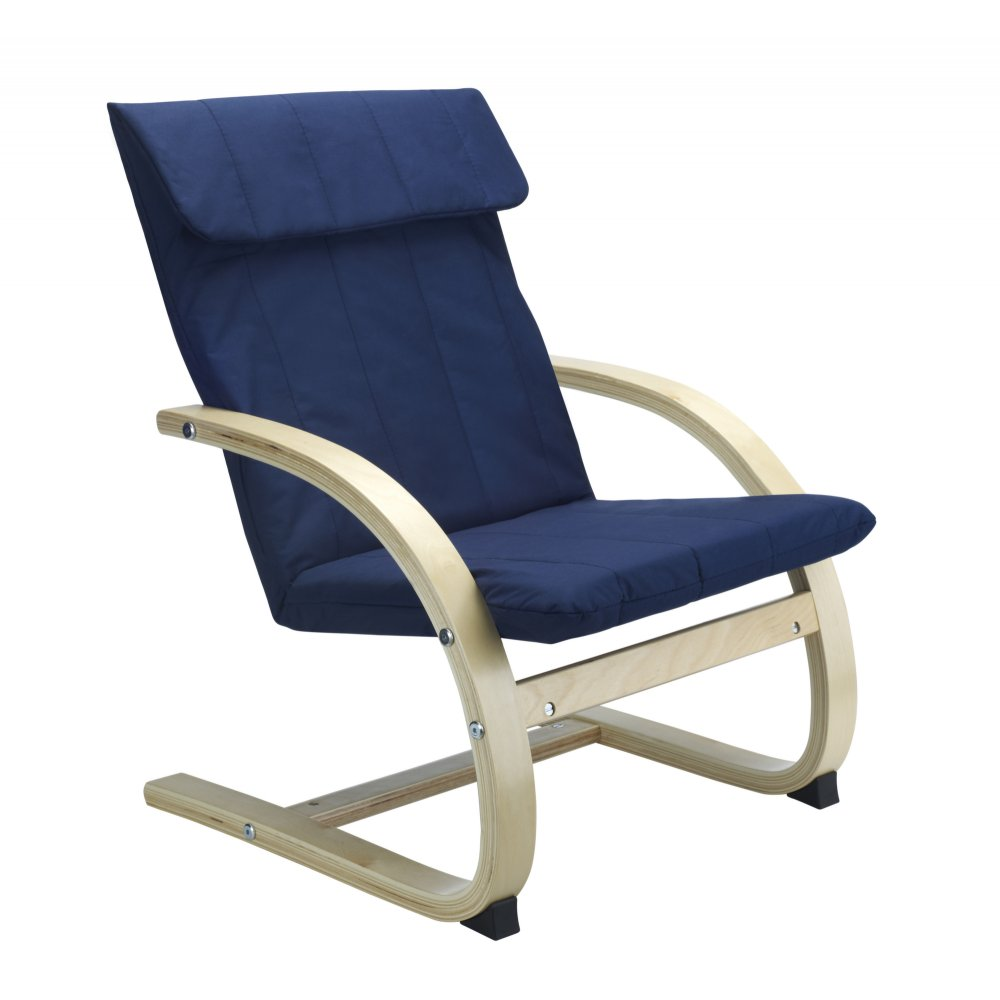 Kids lounge chair in blue for Toddler lounge chair