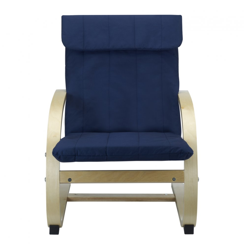 kids lounge chair in blue