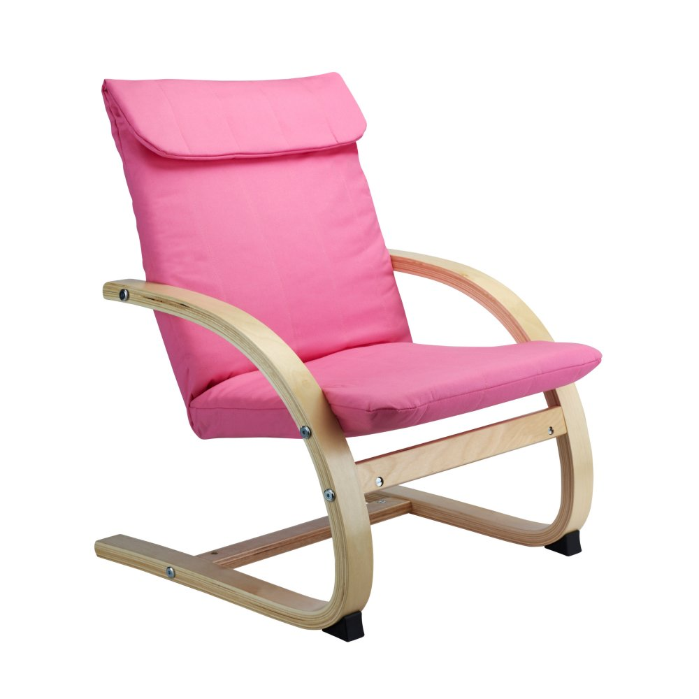 Hedda Kids Lounge Chair In Pink