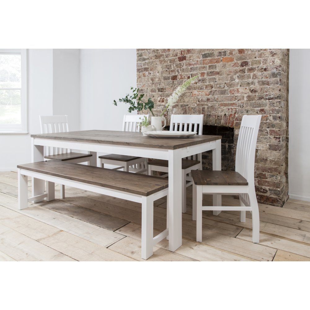 Hever Dining Table With 5 Chairs And Bench