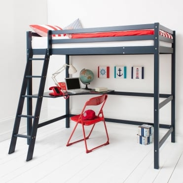 High Sleeper Cabin Bed in Blue