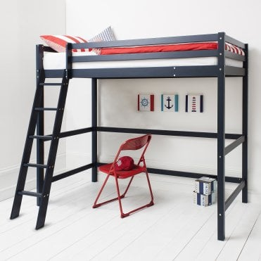 Noa and Nani High Sleeper Cabin Bed in Blue Texas