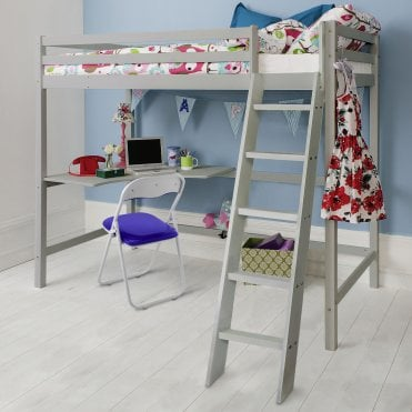 Noa and Nani High Sleeper Cabin Bed in Silk Grey Thomas