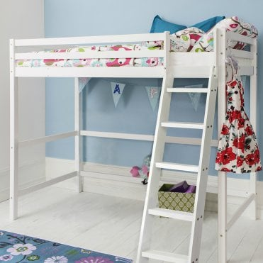 Noa and Nani High Sleeper Cabin Bed in White Texas