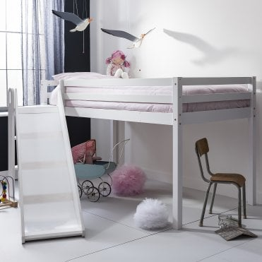 Noa and Nani Johan Midsleeper Cabin Bed with Space Saving Slide