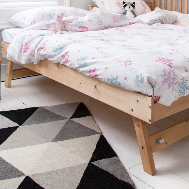 Noa and Nani Matheus Pull out Spacesaver Trundle Bed in Natural Pine