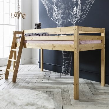 Noa and Nani Midsleeper Cabin Bed with Natural Frame
