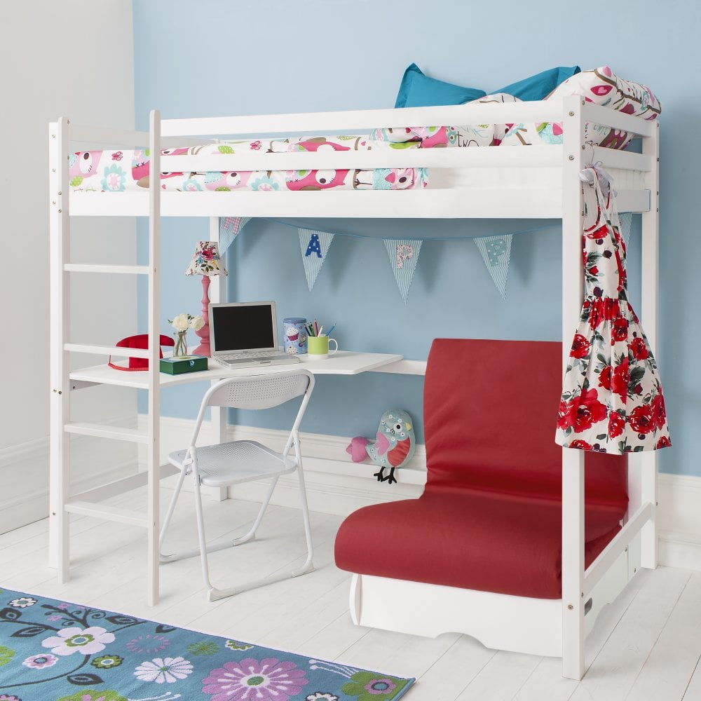 Futon In Blue Pull Out Bed