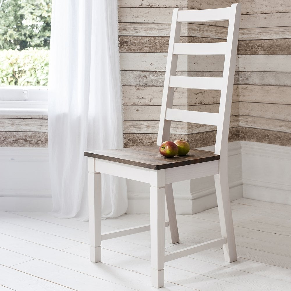 Dining Tables Benches: Dining Table And Chairs Canterbury White And Dark Pine