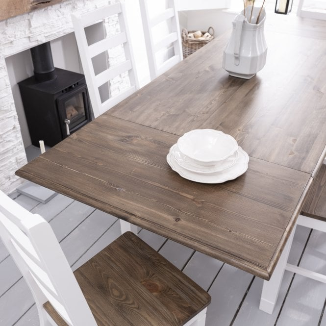 Noa and Nani Pair of Extensions for Canterbury Dining Table Dark Pine and White