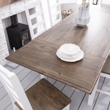 Pair of Extensions for Canterbury Dining Table Dark Pine and White
