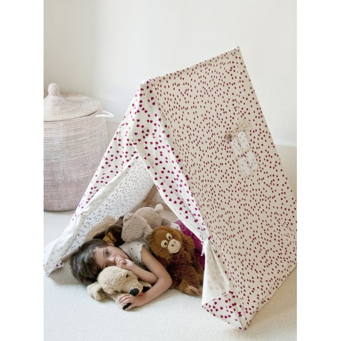 Noa and Nani Playtent with Fuschia Hearts Design