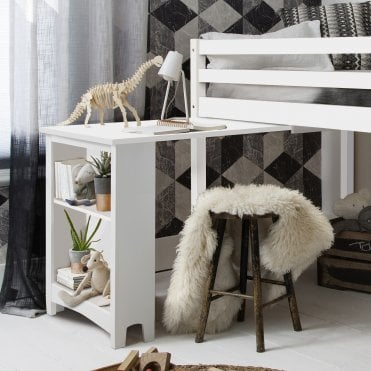 Noa and Nani Pull out Desk for Cabin Bed in White