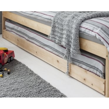 Pull out Spacesaver Trundle Bed in Natural