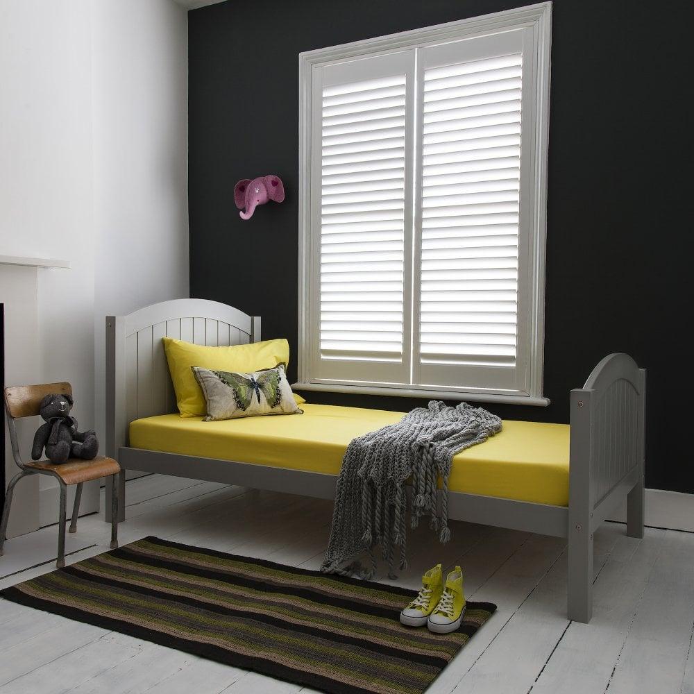 Single Bed Classic Boston In Silk Grey