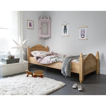 Single Bed Olivia in Natural Pine Solid Wood Frame