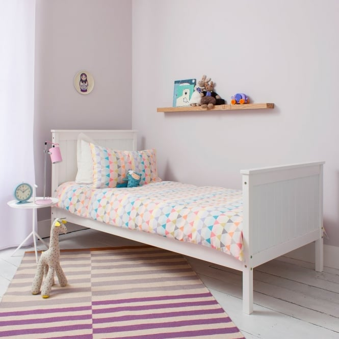 Noa and Nani Single Bed Portland Contemporary Bed in White