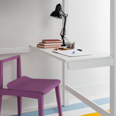 Skole Desk for Odin High Sleeper Bed in White