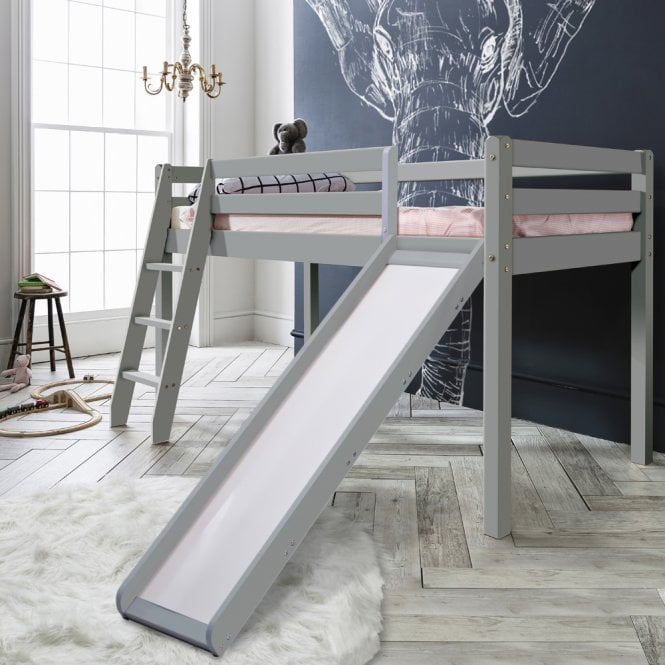 Noa and Nani Thor Midsleeper Cabin Bed with Slide in Silk Grey
